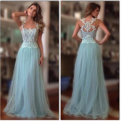 Lace Prom Dress,high quality prom d..