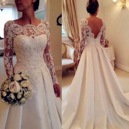 Long Sleeves Prom Dress,Lace Prom D..