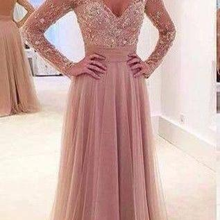 High quality prom dress,long sleeve..