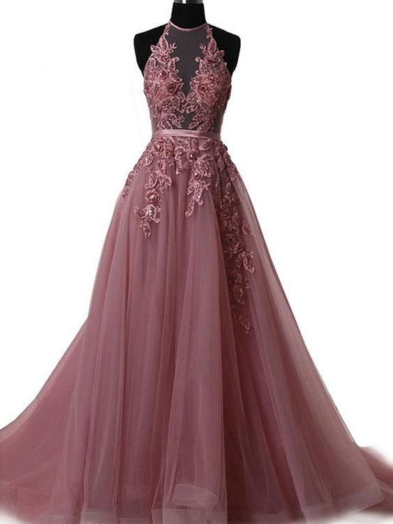 Sexy long prom dress, beautiful lace appliques long prom dress, a-line princess prom dress, high quality hand made prom dress, elegant wowen dress,party dress, dress for teens L966