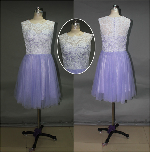 Real Made Lace Prom Dress.Lace Graduation dress L023