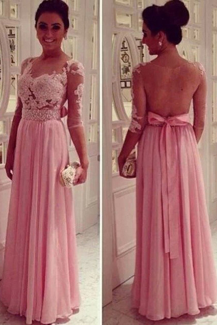 A-line Prom Dress,Beautiful Applique Prom Dress,Elegant Women ...