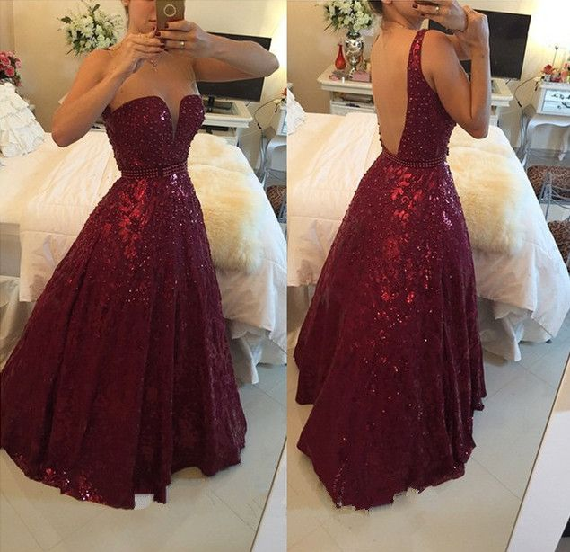 Red Long Poofy Prom Dresses 2015