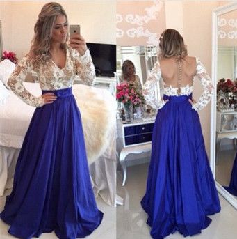 Lace Sleeve Prom