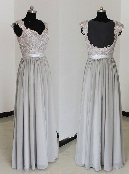 Cap Sleeves Prom Dress,chiffion Prom Dress,long Prom Dress,a-line ...