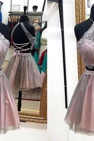 Sexy prom dress, short prom dress,homecoming prom dress,two pieces prom dress,high quality custom made prom dress,elegant wowen dress,party dress,evening dress, dress for teens L839