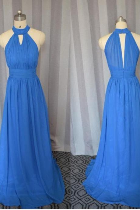 High neck prom dress, sexy prom dress,chiffion prom dress, high quality hand made prom dress, elegant wowen dress, party dress, evening dress, dress for teens L870