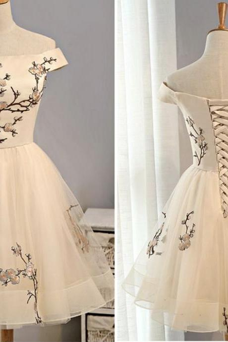 Short prom dress, homecoming prom dress, beautiful appliques prom dress, high quality hand made prom dress, elegant wowen dress, party dress, dress for teens L887