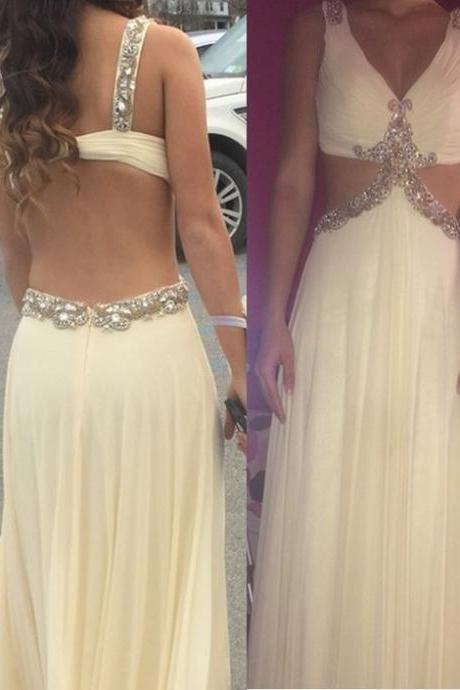 Sexy long prom dress, chiffion long prom dress, beautiful beading prom dress , high quality hand made prom dress, elegant wowen dress,party dress, dress for teens L800