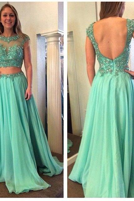 Sexy open back long prom dress,high quality hand made dress,beautiful beading prom dress,elegant prom dress, evening dress,dress for teens L273