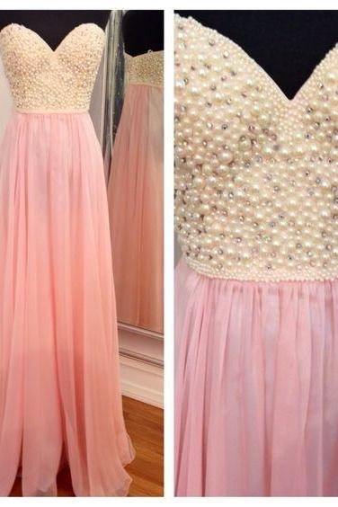 Sweatheart neck prom dress,strapless prom dress,long prom dress,beautiful beading prom dress,high quality prom dress,party dress,evening dress L520