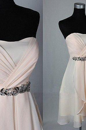 Strapless prom dress,homecoming prom dress,short prom dress,simple prom dress,chiffion prom dress,beautiful beading prom dress,elegant wowen dress,party dress,evening dress,dress for teens L625