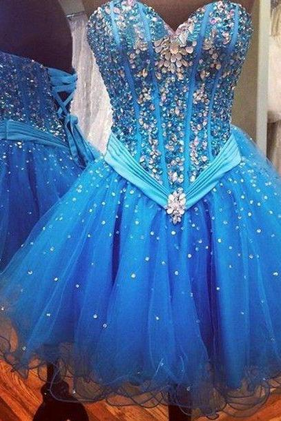 Sweatheart neck prom dress,strapless prom dress,homecoming prom dress,short prom dress,beautiful beading prom dress,elegant wowen dress,party dress,evening dress,dress for teens L619