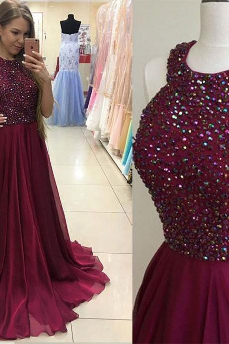 Sexy prom dress,high quality handmade prom dress,beautiful beading prom dress,a-line long prom dress,princess prom dress,dress for teens L818