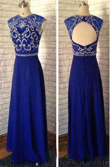 Round neck prom dress,long prom dress,chiffion prom dress,beautifil beading prom dress,high quality hand made prom dress,elegant wowen dress,party dress,dress for teens L649