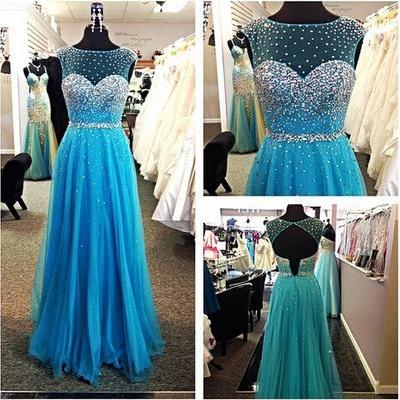 Sleeveless Prom Dress Custom prom dress,A Line prom dresses Long Evening Dresses Elegant Women dress,Party dress L041