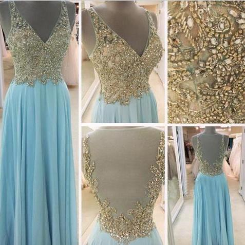 High quality prom dress,V-neck prom dress,long prom dress,prom dress,beaitiful beading prom dress,chiffion dress,elegant wowen dress,party dress,evening dress L480