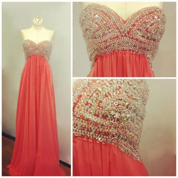 Sweatheart neck prom dress,strapless prom dress,long prom dress,beautiful beading prom dress,high quality prom dress,elegant wowen dress,party dress,evening dress,dress for teens L588